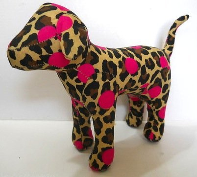 Victoria's Secret Pink Dog Leopard and Pink Polka Dots - 1