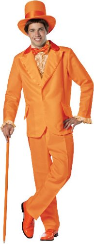 Dumb And Dumber Lloyd Orange Tuxedo Adult Costume, Orange, One-Size (Standard)