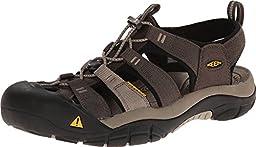 KEEN Men\'s Newport H2 Sandal, Black Olive/Brindle, 7.5 M US