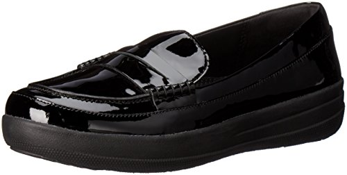Fitflop F-Sporty Tm Penny Loafer, Scarpe Low-Top Donna, Nero (Black), 38 EU