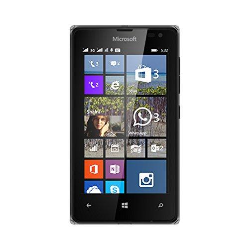 Microsoft Lumia 532 Smartphone débloqué 3G+ (Ecran : 4 pouces – 8 Go – Double SIM – Windows Phone 8.1) Noir