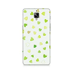 Mobicture Watercolor Hearts Premium Printed Case For OnePlus Three