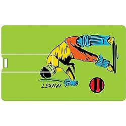 Printland Cricket Mania PC80522 Credit Card Shape 8GB Pen Drive