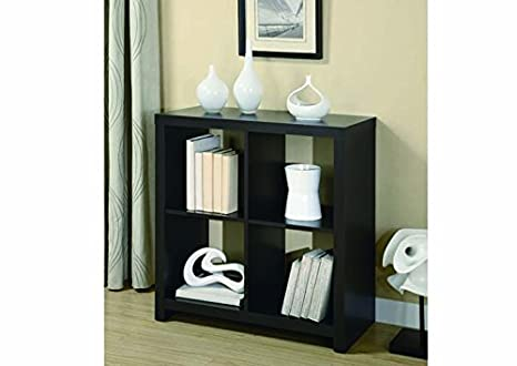"CAPPUCCINO HOLLOW-CORE 34""H ROOM DIVIDER BOOKCASE with Chanasya Polish Cloth Bundle"