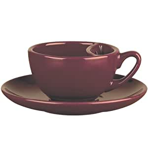 Loveramics Tea Dam Cup and Saucer, Plum