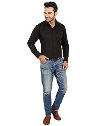 Regza Men's Formal Shirt (RZA_Black_42)