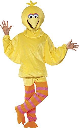 smiffys-womens-sesame-street-big-bird-costume-top-trousers-headpiece-size-m-colour-yellow-32994