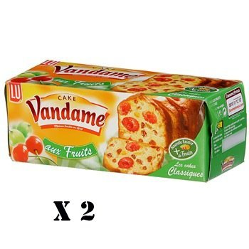 French Fruit Cake Lu Lu-Cake Au Fruit-2 Box Pack