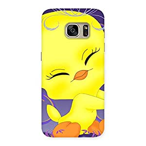 Ajay Enterprises Delight Cute Tweet Back Case Cover for Galaxy S7