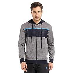 Proline Active Men's Cotton Sweatshirt (8907007332092_63001527004_X-Large_Navy Marl)