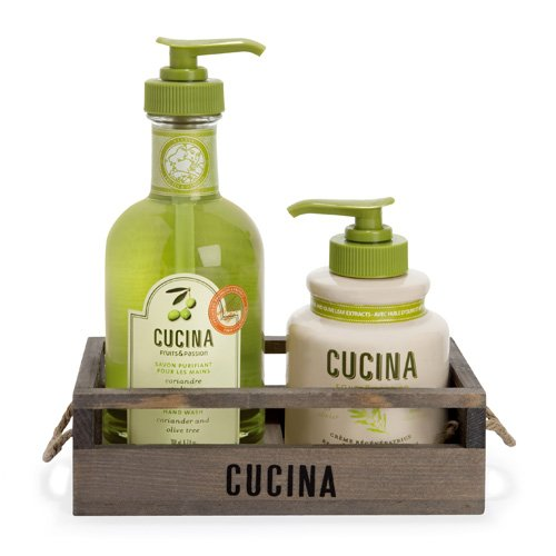 Fruits and Passion's Cucina Regenerating Hand Care Duo Rack Coriander & Olive