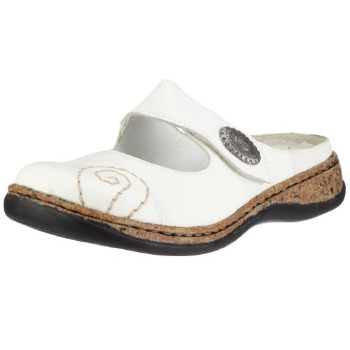 Rieker Women's Daisy 46382-80 White Slide Sandal 46382-80 4 UK
