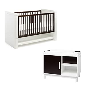 Amazon.com : Netto Collection Moderne Crib and Changer Set - Only 6