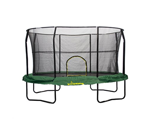 JumpKing-Oval-Trampoline-with-Solid-Green-Graphic-Pad