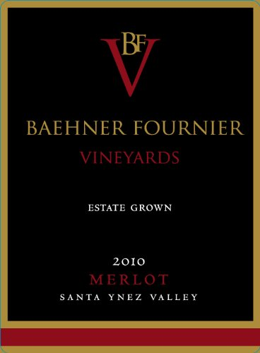 2010 Baehner Fournier Vineyards Estate Grown Merlot 750 Ml
