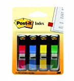 Post-it Small Flags in Dispensers, Four Colors, 35 per Color, 4 Dispensers per Pack (683-4 )