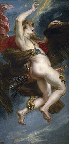 Perfect Effect Canvas ,the Beautiful Art Decorative Prints On Canvas Of Oil Painting 'Rubens Peter Paul The Rape Of Ganymede 1636 38 ', 18 X 38 Inch / 46 X 95 Cm Is Best For Kids Room Decor And Home Decor And Gifts (Peter Pan Blu Ray Diamond compare prices)