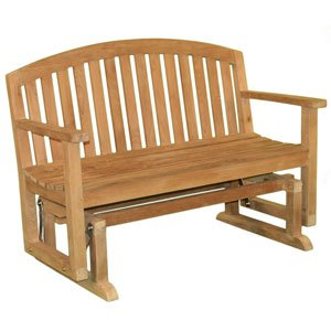 Jewels of Java Fanback Patio Glider Bench
