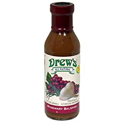 Drew\'s All-Natural Salad Dressing and 10 Minute Marinade, Rosemary Balsamic, 12-Ounce Bottle