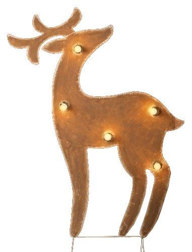 Lighted Metal Deer Yardart