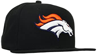 NFL Denver Broncos Black and Team Color 59Fifty Fitted Cap by New Era