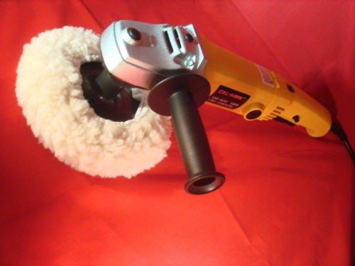 "7"" Variable 6-Speed Electric Car Polisher/Buffer & Sander W/ Bonnet Pad"