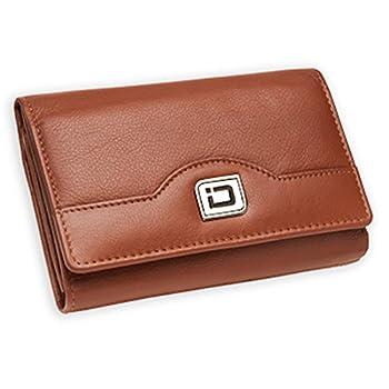 1. RFID Blocking Secure Wallet Ladies Compact Tri-fold