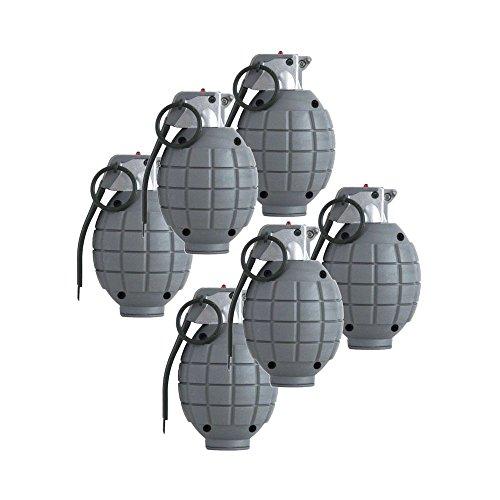Bambini Army SAS giocattolo bombe a mano - Set di 6 nero Dummy Granate
