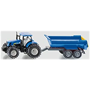 Amazon.com: 1:50 Siku New Holland Tractor & Trailer: Toys & Games