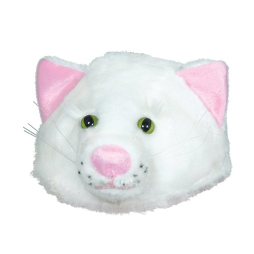 Plush Cat Head-Hat Party Accessory (1 count) - 1