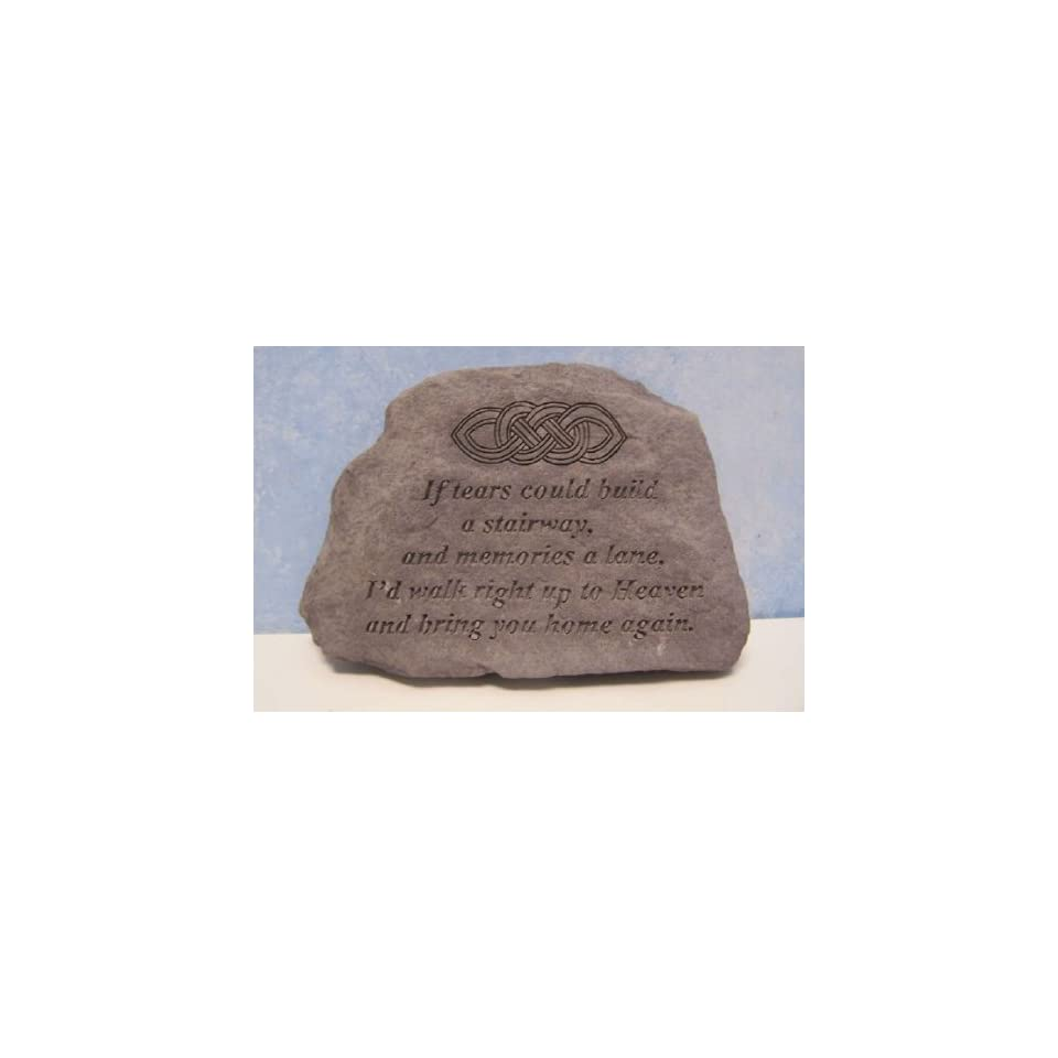 If Tears Could Build A Stairway Memorial Stone   Celtic Knot Design  Outdoor Decorative Stones  Patio, Lawn & Garden