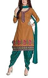 Meghali Women's Cotton Unstitched Salwar Suit (GS15_Multi-Coloured_Freesize)