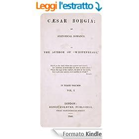 Caesar Borgia: an historical romance V1 (English Edition)
