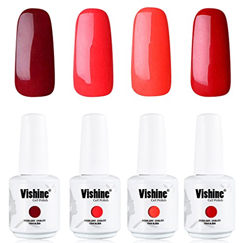 Vishine-Nail-Art-UV-LED-Gel-Polish-Varnish-Long-lasting-4-Colors-Manicure-Kit-C226
