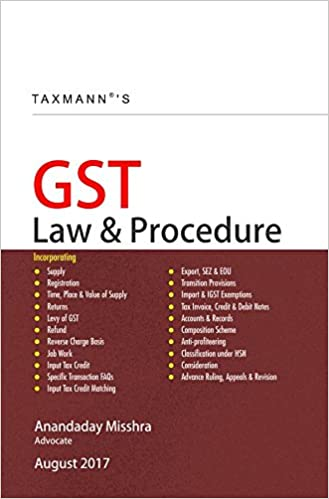 GST Law & Procedure Book august 2017