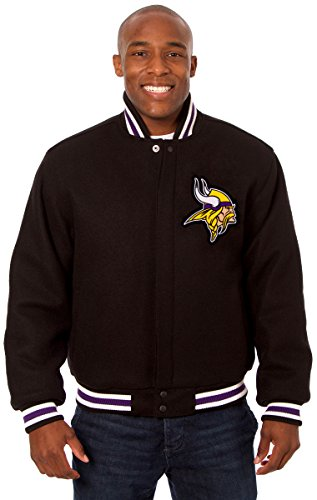 Minnesota Vikings Men's Wool Jacket with Embroidered Applique Team Logo