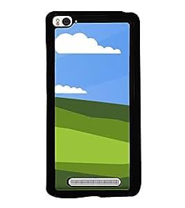 Green Fields 2D Hard Polycarbonate Designer Back Case Cover for Xiaomi Mi 4i :: Xiaomi Redmi Mi 4i