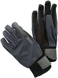 Spyder Men's Spring Soft Shell Ski Glove, Slate, Medium