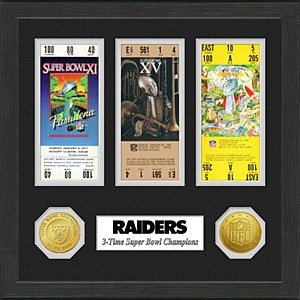 Oakland Raiders Super Bowl Championship Ticket Collection
