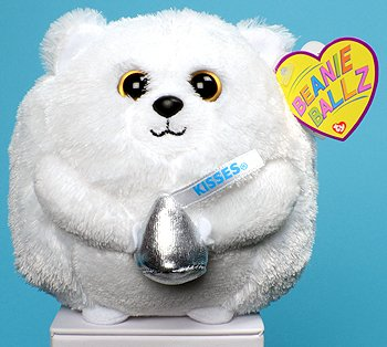 Ty Beanie Ballz Smoothie the White Hershey Bear