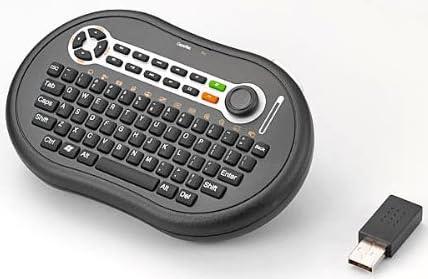 ゲームコントローラ感覚で操作ができる マウススティック付き ワイヤレスキーボードマウス Donyaダイレクト DN-WMKB17