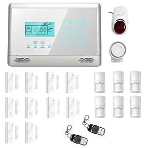 Antifurto allarme touch screen casa kit combinatore gsm - Allarme casa senza fili fai da te ...
