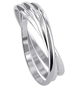 BDRS018-10 Sterling Silver Triple Band Thumbring Thumb Ring Size 10