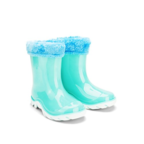 Chemistry® Sunny Kid's Girl's Ankle Flat Jelly Rain Boots Blue (11 M US Little Kid) (Rain Boots Cheap compare prices)