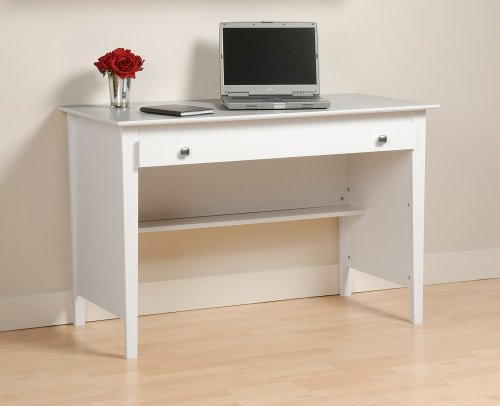 Buy Low Price Comfortable Contemporary Computer Desk in White WWD4730 (B004E2Y1LE)