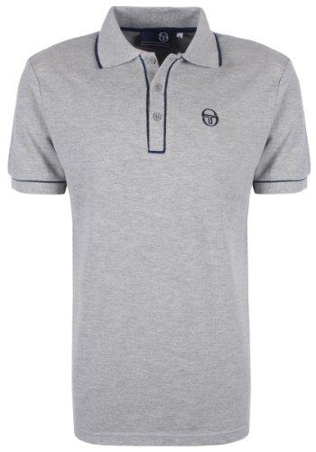 Sergio Tacchini da uomo Polo a maniche corte maglietta Grey S