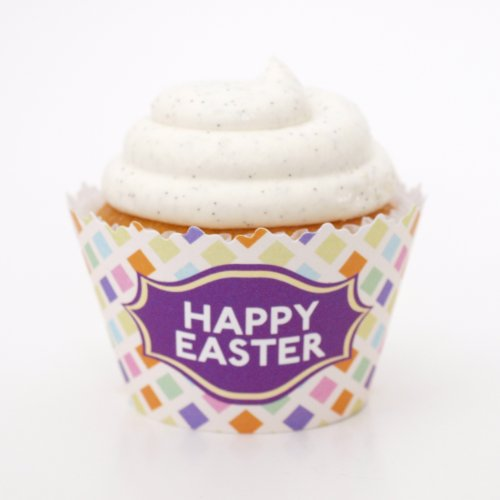 Happy Easter Pastel Banner Cupcake Wrappers - Set of 12 - Liners a Fun, Affordable Cup Cake Accesory (Cake Decoration Accesories compare prices)