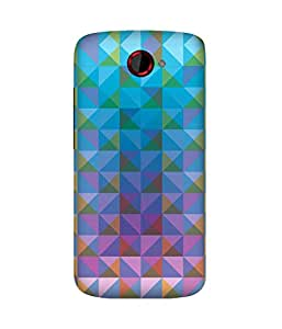 Blue Triangles HTC One S Case