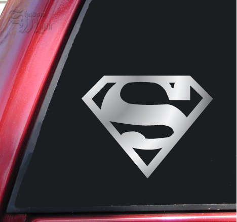  : Superman Vinyl Decal Sticker - Shiny Chrome