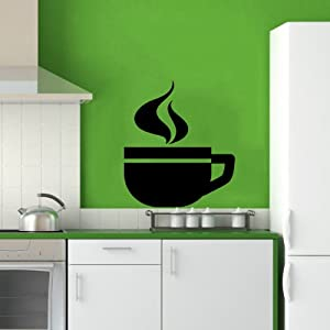 Cup of coffee smoke cafe dining room kitchen for Dining room wall art amazon